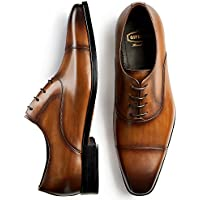 GIFENNSE Men's Classic Modern Oxford Wingtip Lace Dress Shoes
