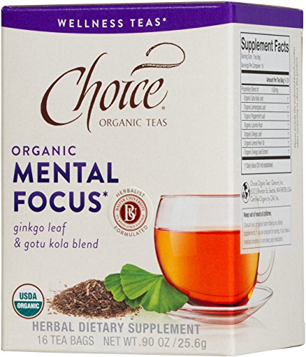Choice Organic Teas, Mental Focus Wellness Tea, 16 Count