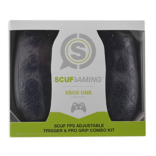 Gaming Grip (SCUF FPS Adjustable Trigger & Pro Grip Combo Kit - Xbox One Compatible (Gray) by Scuf Gaming)