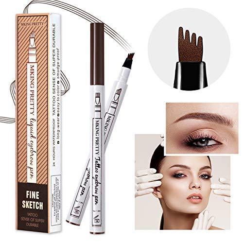 MIUSSAA 2 Pack Chestnut Eyebrow Pencil Tattoo Brow Pen Waterproof Long Lasting Make Up