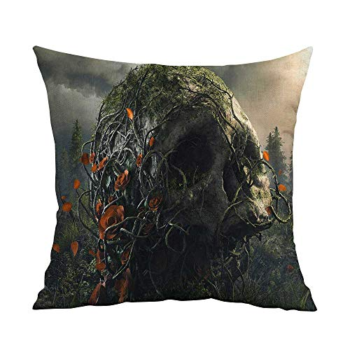 Home Sofa Cushion Cover Pillowcase Gift dark Art Artwork Fantasy Artistic Original Psychedelic Horror Evil Creepy Scary Spooky Halloween Wallpaper HDSAD W17.8