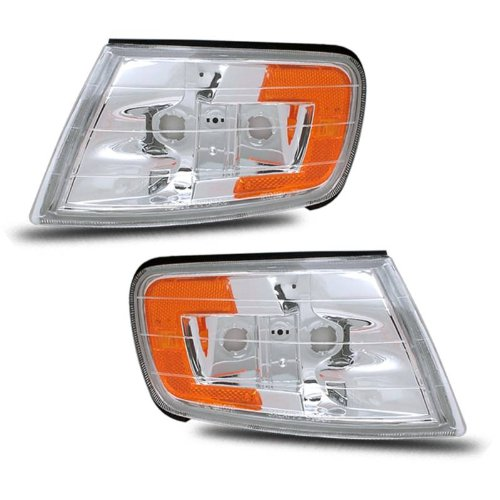 SPPC Corner Lights Euro Amber For Honda Accord - (Pair) Driver Left and Passenger Right Side (97 Honda Accord Right Headlight)