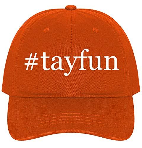 The Town Butler #Tayfun - A Nice Comfortable Adjustable Hashtag Dad Hat Cap, Orange
