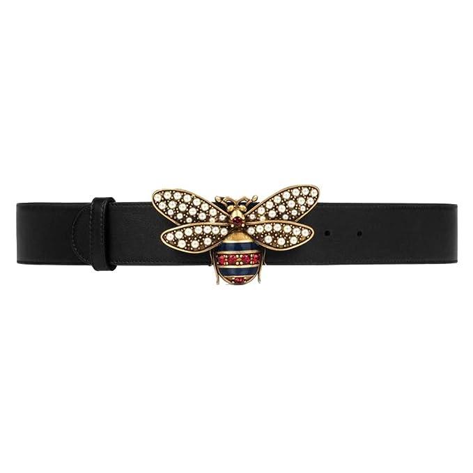 8f1a818d GG Bee Buckle Belt for Women Buckle Black Leather
