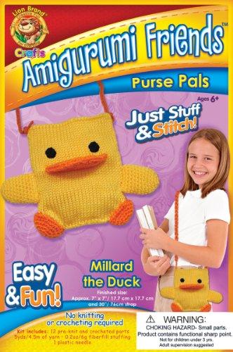 Amigurumi Friends Purse Pals Kit, Millard The Duck by Lion Brand Yarn