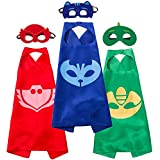 LansKids Costumes and Dress up for Kids - Capes and Masks for Catboy Owlette Gekko
