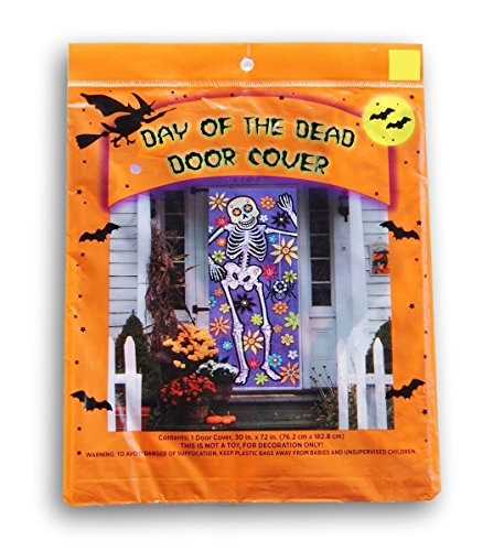 Día de Los Muertos / Day of the Dead Door Cover - 30 x (Dia De Los Muertos Door Decorations)