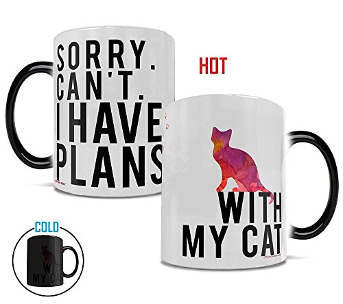(Morphing Mugs Sorry I Can't I Have Plans With My Cat Heat Reveal Ceramic Coffee Mug - 11)