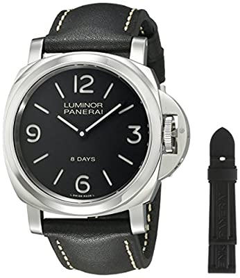 Panerai Men's PAM00560 Luminor Stainless Steel Mechanical Hand-Wind Watch with Interchangeable Bands