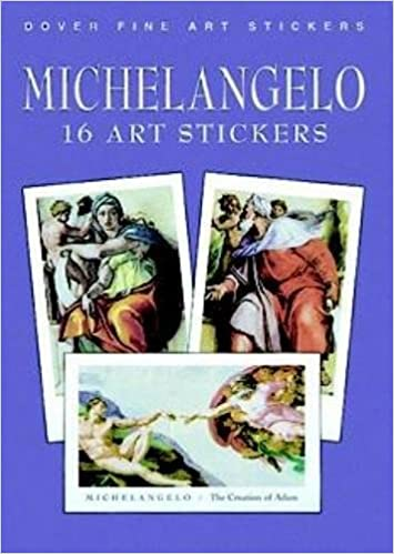 michelangelo 16 art stickers dover art stickers