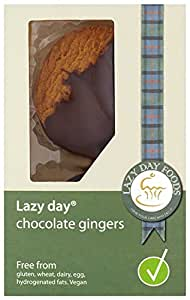 Lazy Day Foods Dark Chocolate Ginger Cookies, 4.4-Ounce Packages (Pack of 4)