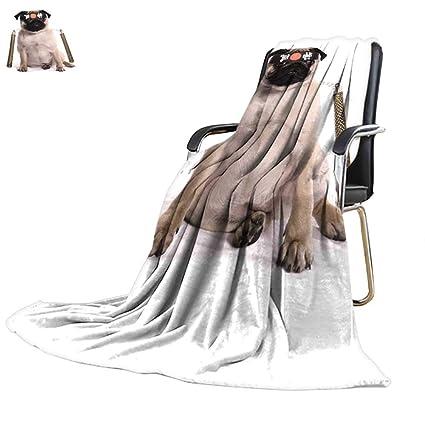 Amazon.com: YOYI-home Throw Blanket Ninja Karate Pug Studio ...