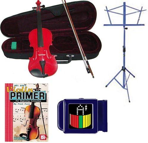 Violín eléctrico acústica, Rojo Tamaño Completo Violín w ...