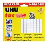 Uhu Tac Mega Pack, Adhesive Reusable Putty, 4.23 oz. (120g), 160 Pads (41555)