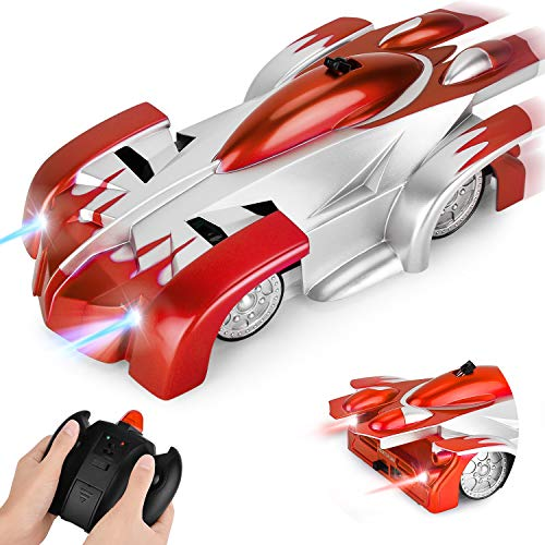 GotechoD Remote Control Car for Kids Gravity Defying RC Car Wall Climbing Car Rechargeable Fast Race Cars Anti Gravity 360°Rotating Stunt Car Toys for 5-10 Year Old Boys GirlsRed