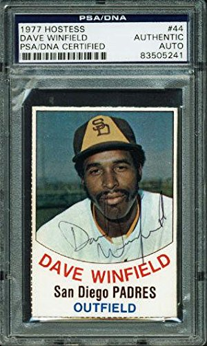 Padres Dave Winfield Signed Card 1977 Hostess #44 Slabbed - PSA/DNA Certified - Baseball Slabbed Autographed Rookie Cards