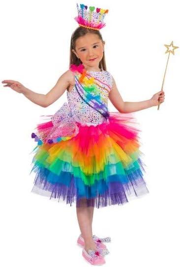 Disfraz de Princesa Arcoiris para Niñas: Amazon.es: Juguetes y juegos