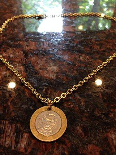 Dominican Republic 5 pesos coin necklace
