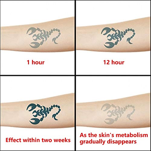 8990fe8e26fe5 Knit - Jagua Henna Tattoo Kit, Black/Dark Blue Semi-Permanent Tattoo Ink