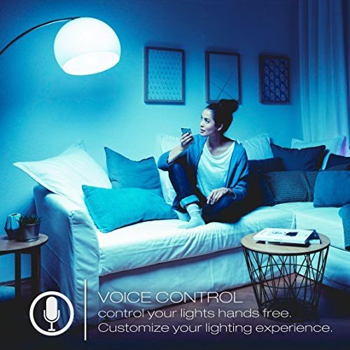 Sylvania 75586 Smart+ Bluetooth HomeKit-Enabled Color Changing and Dimmable A19 LED Bulb, Works with Siri Voice Control, 60-Watt Equivalent, No Hub Required for Set Up, 4 Pack, Full