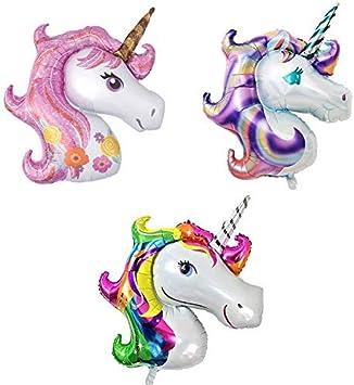 Amazon.com: Katchon Globos de unicornio grande fondo de ...