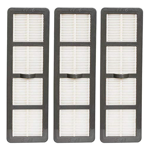 Eagles Pack 3 Replacement EF-6 HEPA Vacuum Filters Compatible for Eureka AS1000, AS1050, AS3012A Series Upright vacuums