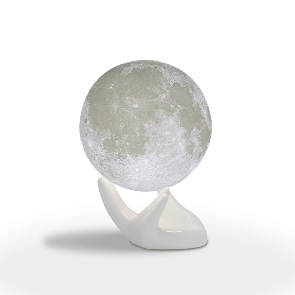Sybedu (5.9 inch) Moon Lamp,3D Printed Children Night Lights for Bedroom Bedside, Eye Caring LED with USB Recharge, 2 Colors Adjustable Brightness Sybedu.co