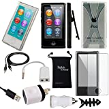iPod Nano 7 or 8 Case - DigitalsOnDemand 11-Item Accessory Bundle for Apple iPod Nano 7th / 8th Generation 7G 8G - Slim Case Cover, Case with Clip, USB Cables + Chargers, Clear Screen Protector