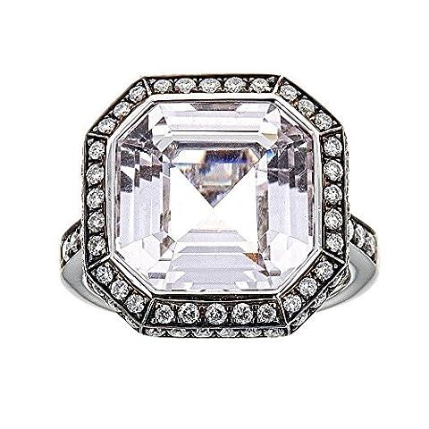 Kunzite & Diamond Ring in 18K White Gold (Kunzite Rings In White Gold)