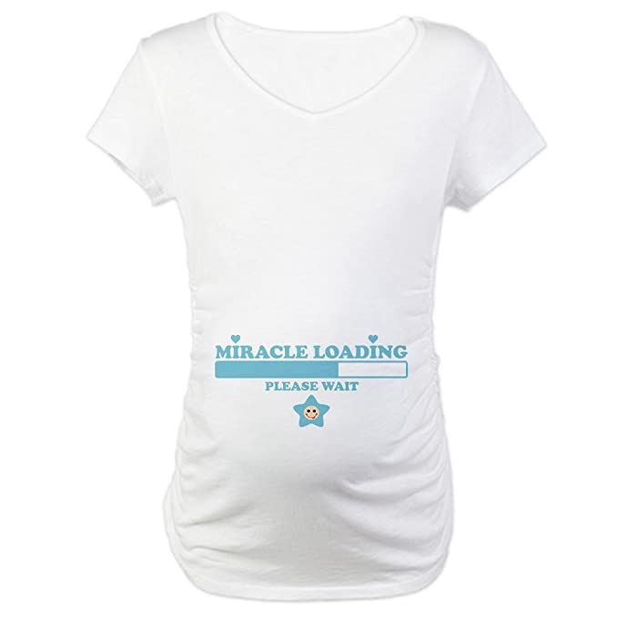 967f046c31321 CafePress Miracle Loading Maternity T-Shirt Cotton Maternity T-shirt, Cute  & Funny