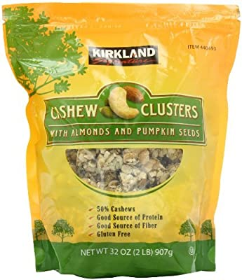 Kirkland Signature Signature's Cashew Cluster with Almonds and Pumpkin seeds, 32 Ounce