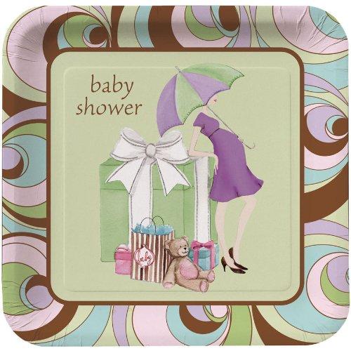 Baby Shower Parenthood (Baby Shower 'Parenthood' Large Paper Plates (8ct))