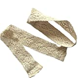 Crochet Curtains ZHH 1 Pair Handcrafted Openwork Crochet Cotton Holdbacks Curtain Straps Decorative Tie-Backs, 16 inches Long