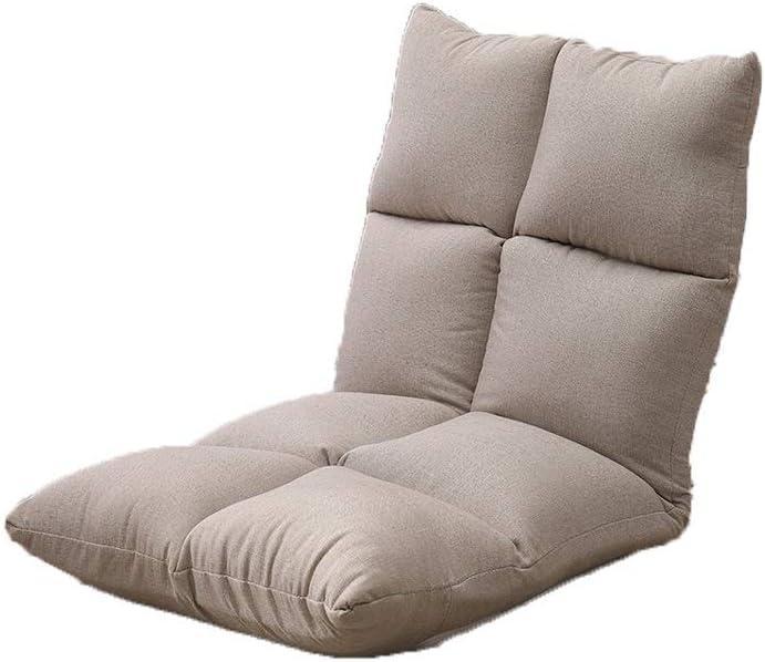 YAXY Silla reclinable Silla Suelo Suelo plegable plegable del juego perezoso con la ayuda trasera ajustable de 5 posiciones Acolchonadas sofá perezoso, inferior Fácil Lavado de nylon for lectura Visua