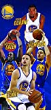 Four Warriors Large Beach Towel 28 in x 58 in - Durant, Green, Thompson, Curry Basketball Players - Officially Licensed