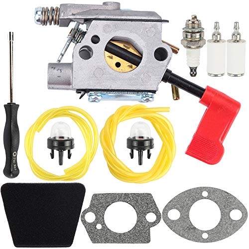 Sears Weedeater - Carburetor Fuel Line Filter Primer Bulb Carb Kit for Craftsman Sears Poulan 32cc Gas Trimmer Weedeater Pole Pruner PPB100 PPB200 PPB300 PPB350 PP031 PP033 PP035 PP036 PP131 PP135 PP136 PP336 PP446T
