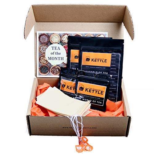 Adventure Edition - (6) Month Tea of the Month Club Subscription Box - Assorted Loose Leaf Teas - Tea Lover Gift Sampler Box by WK The Whistling Kettle (Image #1)