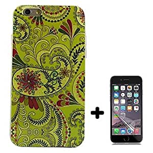Mini - Flower Pattern Soft TPU with Screen Protector Case Cover for iPhone 6