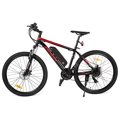 Ancheer 2018 Electric Mountain Bike with Removable LG 36V 8Ah Lithium-Ion Battery for Adults, 26 Inch Electric Mountain Bicycles with Shimano 21 Speed Shifter by ANCHEER (Image #1)