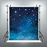 5x7ft Children Baby Newborn Backdrops Photography Backdrops Blue Starry Night Backdrop for Kids Photography Props Sky Star Backdrop Background J01780