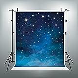 6.5x10ft Children Baby Newborn Backdrops Photography Backdrops Blue Starry Night Star Backdrop for Kids No Wrinkles Fantasy Stars Background For Children Birthday Photo Studio J01780-B2