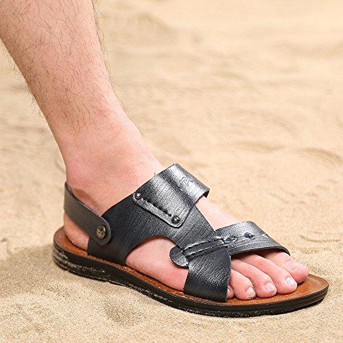 primavera estate Il nuovo Uomini sandali moda Spiaggia Uomini scarpa Tempo libero sandali ,nero,US=9.5,UK=9,EU=43 1/3,CN=45