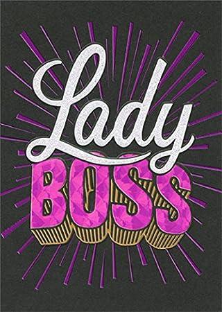 Avanti Boss Lady A Press Funny Birthday Card
