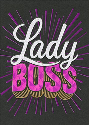 Amazon Avanti Boss Lady A Press Funny Birthday Card Office