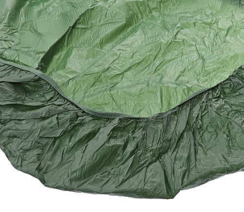 5' Round Bench (Kwik-Cover 60PK-GR 60'' Round Kwik-Cover - Green Fitted Table Cover (1 full case of 50))
