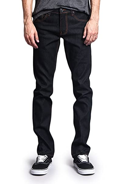Victorious Mens Skinny Fit Unwashed Raw Denim Jeans Dl938 At Amazon
