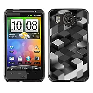LECELL--Funda protectora / Cubierta / Piel For HTC G10 -- Bloques grises --