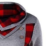 Women's Long Sleeve Turtleneck Plaid Pullover