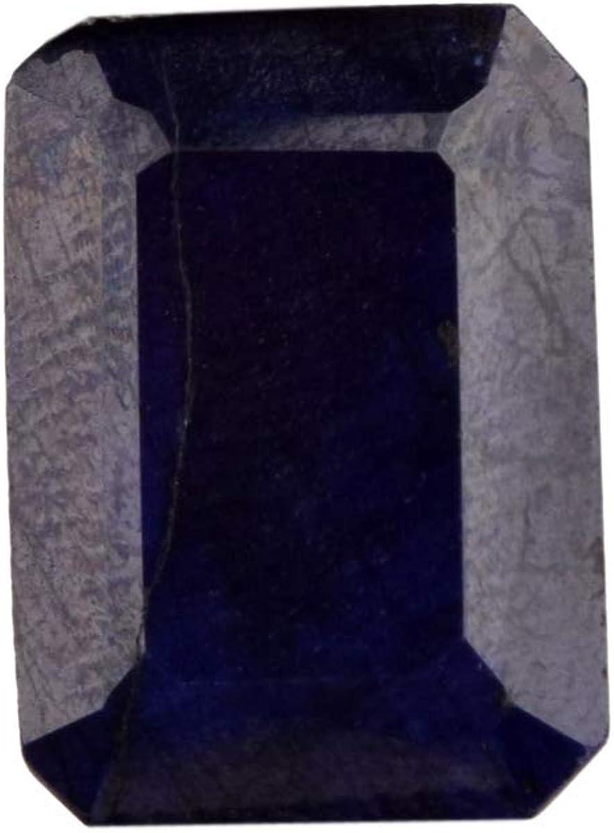 Un zafiro azul de alta calidad, con zafiro azul certificado natural de talla esmeralda, de 14,70 ct, piedra preciosa suelta de zafiro tallado