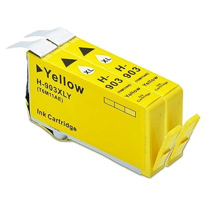 ouguan® 2 x Amarillo de Gran Capacidad Compatible HP 903 903 ...